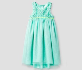 Cat & Jack Baby Girl's Maxi Dresses, Aqua