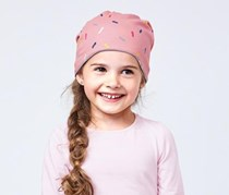 Toddler Girls Reversible Hat, Pink/Blue