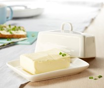 Butter Dish, White