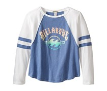 Billabong Girl's Look Around Long Sleeve Tee, Blue/White
