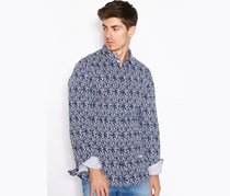 Guess Men's Tapestry Print Shirt, Navy Combo