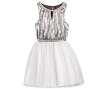 Nanette Lepore Girl's Special Occasion Dress, Grey