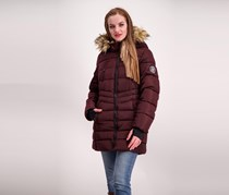 Madden Girl Women's  Puffer w/ Side Zip Jacket, Merlot