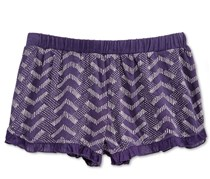 Roxy Big Girl's Chevron Shorts, Navy/White