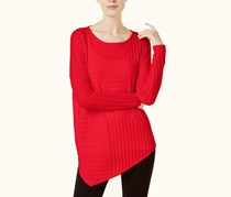 International Concepts Asymmetrical Sweater, Real Red
