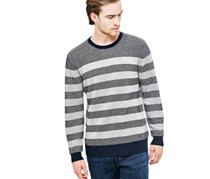 Guess Men Long Sleeve Sweater, Navy
