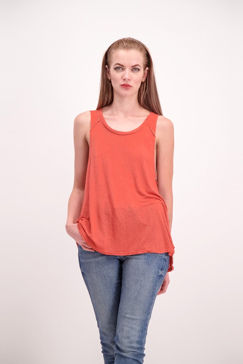 Textured James Knit Tanks, Terra Cotta