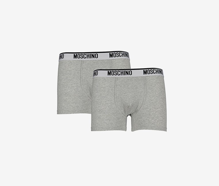Men's Bipack Boxer, Gray