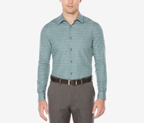 Perry Ellis Men's Check Shirt, Thyme