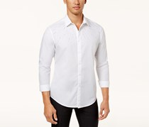 Inc International Concepts Men's Beaded Shirt, White