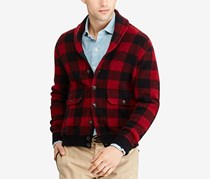 Polo Ralph Lauren Men's Iconic Plaid Cardigan, Red/Black