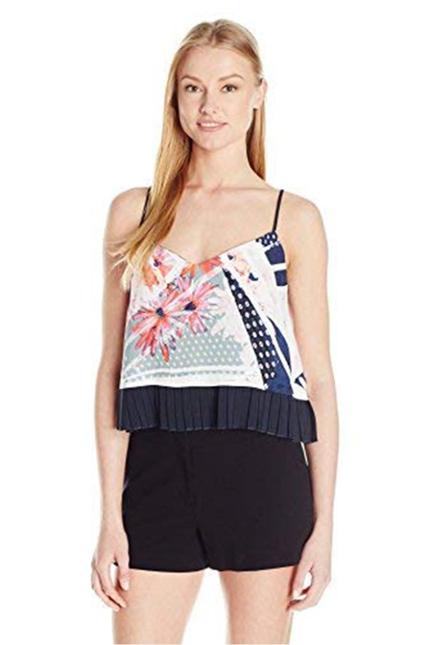Womens Graphic Tank Top, Navy Combo