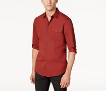 Inc Men's Utility Shirt, Maroon