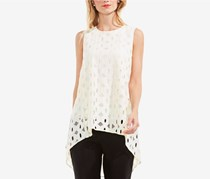 Vince Camuto High-Low Lace Top, Ivory