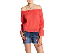 Women's Selena Off-the-Shoulder Blouse, Barberry