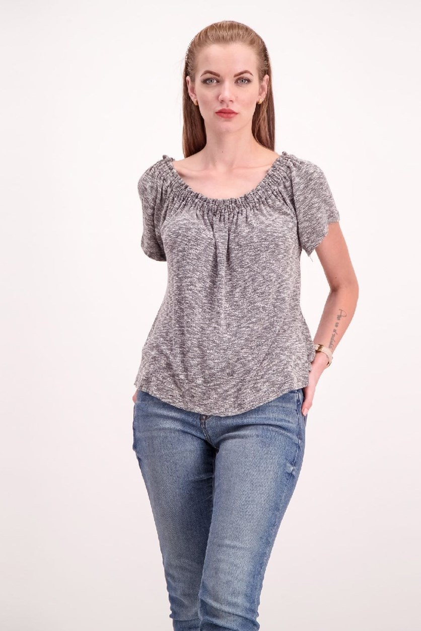 - Off the Shoulder Top, Heather Grey