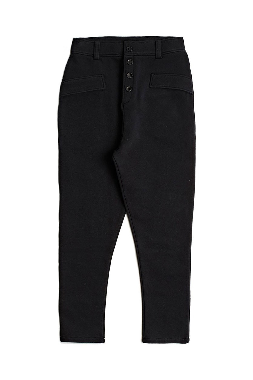 Girl's Cotton Pants, Black