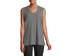 James Perse Slub-Knit Reverse-Bound Tank, Grey
