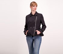 Black Rivet Women's Zip Closure Jacket, Black