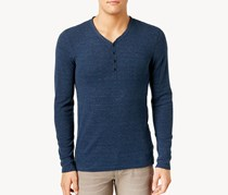 Calvin Klein Jeans Men's Waffle Henley Sweater, Shadow Blue