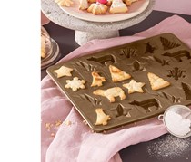 3D Cookies Baking Mat, Gold Metallic