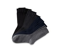 Men's Socks Set of 7, Black/Dark Blue/Anthracite/Grey