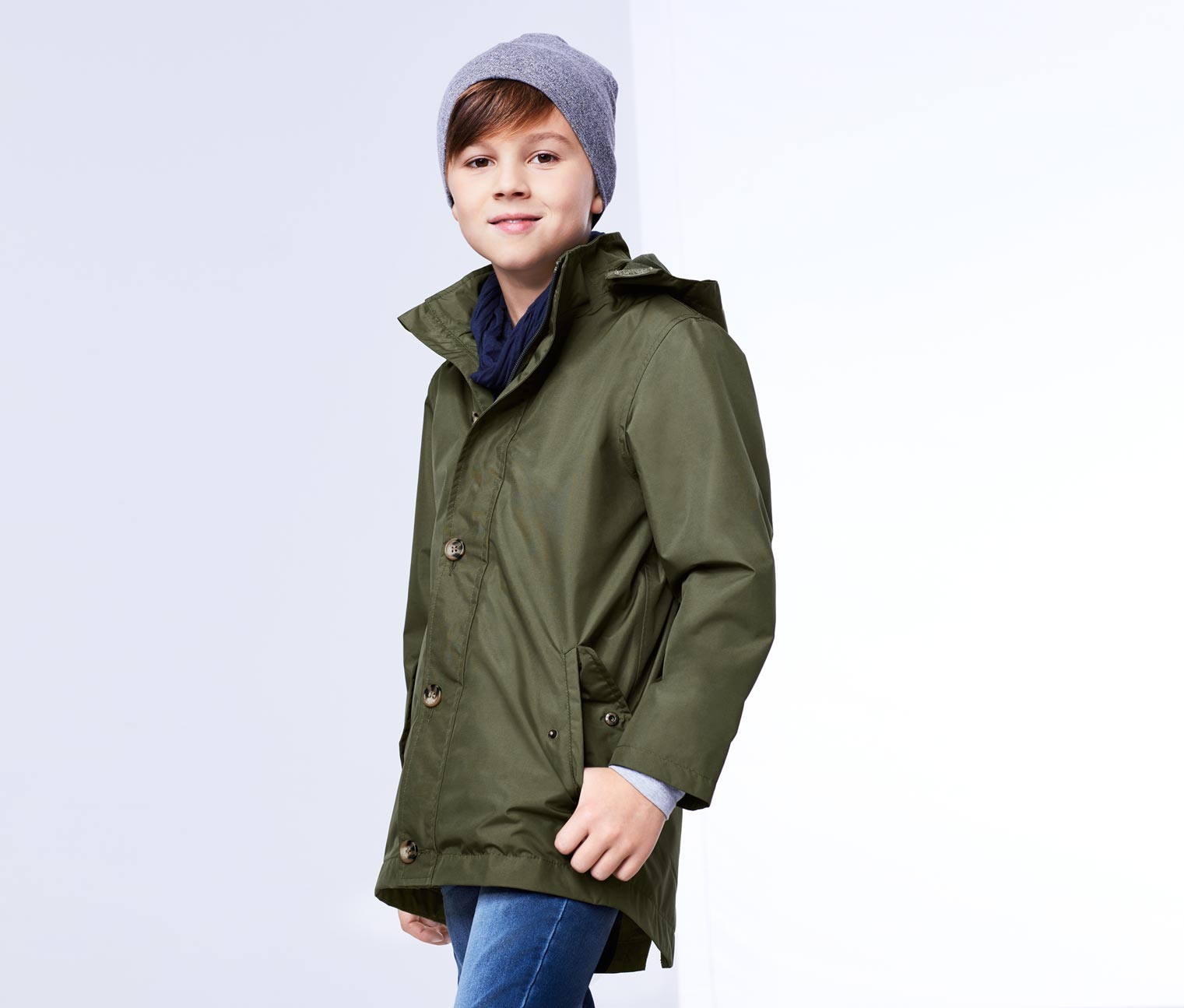 Boy's All-Weather Parka, Olive