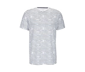 Men's T-Shirt, White/Blue