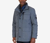 Nautica Men's 2-in-1 Tech Car Coat, Grey