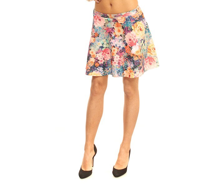 House Women's Floral Print Skirt, Pink Combo