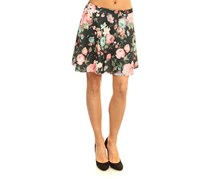 House Women's Floral Print Skirt, Black Combo