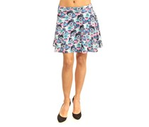 House Women's Floral Print Skirt, Blue/Pink Combo