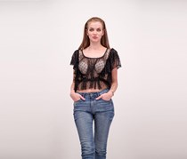 Free People Sweet Surprise Ruffled Tulle Top, Black