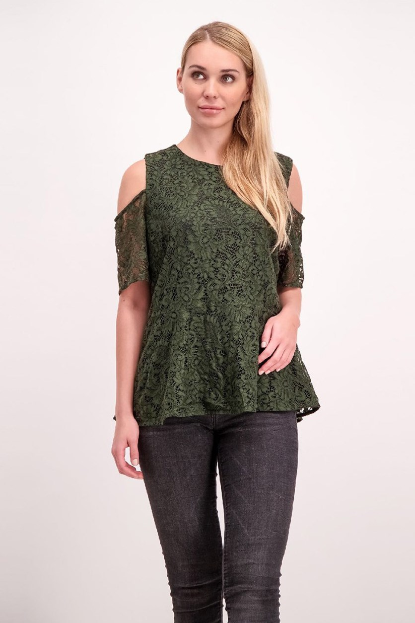 Womens Off The Shoulder Top, Dark Forest