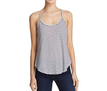 Womens Jersey Striped Casual Top, Navy/White