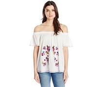 Women's Jude Embroidery Top, White