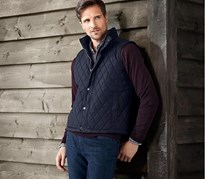 Men's Quilted Vest, Dark Blue