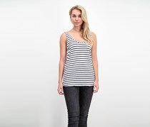 Splendid Women's Sleeveless Striped Top, White/Navy