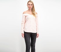 Whyte Eyelash Cold Shoulder Top, Blush
