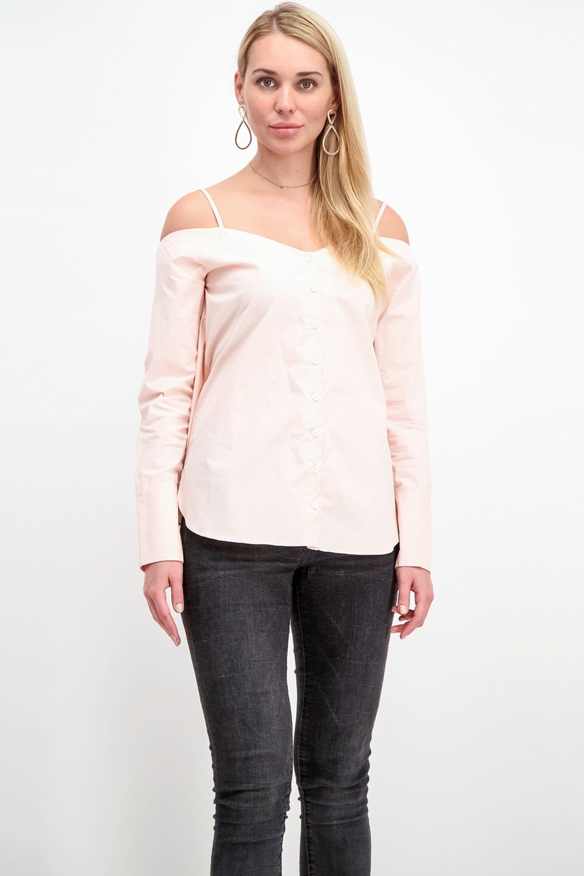 Cold Shoulder Top, Blush