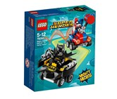 Lego DC Super Heroes Mighty Micros: Batman Vs. Harley Quinn Building Kit, Black/Red/Blue