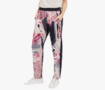 French Connection Womens Printed Pants, Navy Combo