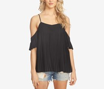 1.state Pleated Off The Shoulder Top, Black