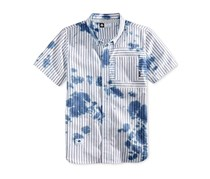 Lrg Men's Rip Tide Stripe Oil Stain Pocket Shirt, Navy
