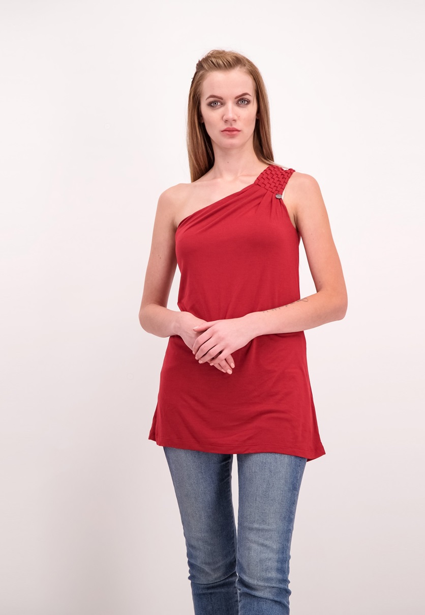 6b7eed89a39eb0 Shop Guess Guess One Shoulder Top