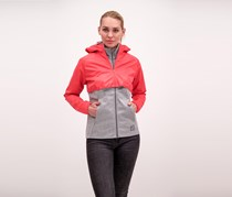 Puma Women's X-Staple Track Jacket, Heather Grey/Pink
