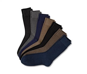 Mens Socks Set of 7, Black/Grey/Blue/Brown