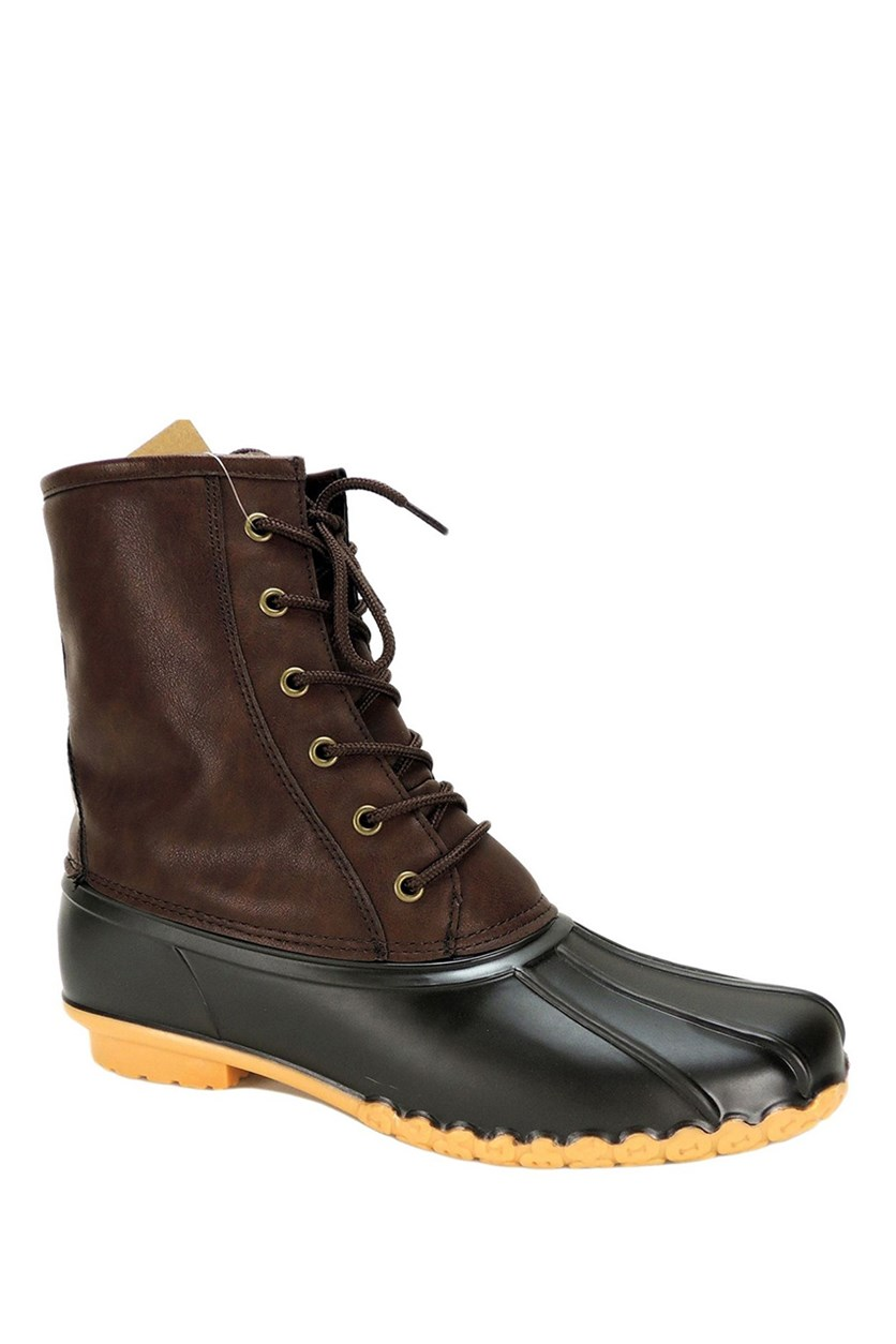 Vintage Men's Adam Duck Boots, Chocolate/Brown