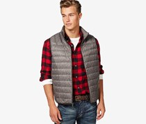 Hawke & Co. Big & Tall Packable Vest, Brown Combo