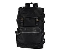 Tahari Men's Relentless-Distressed Vegan Leather Backpack, Black